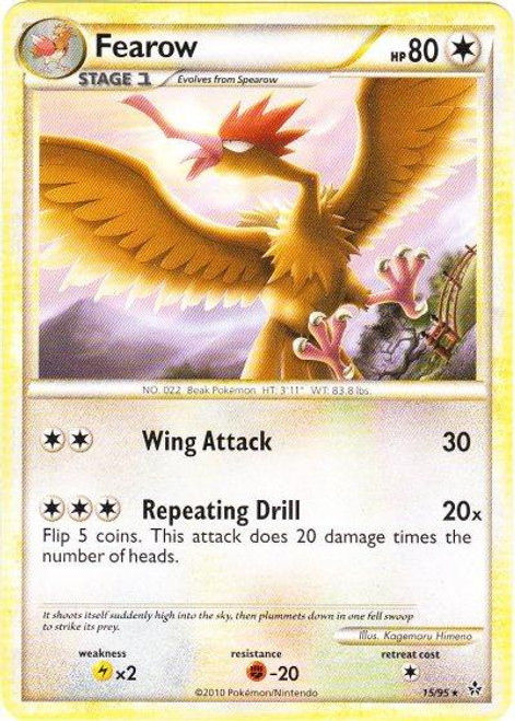Pokemon HeartGold & Soulsilver Unleashed Rare Fearow #15