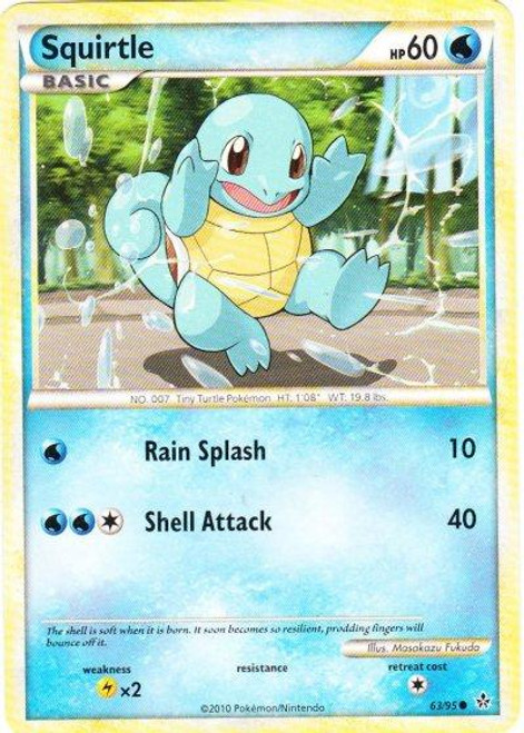 Pokemon HeartGold & Soulsilver Unleashed Common Squirtle #63