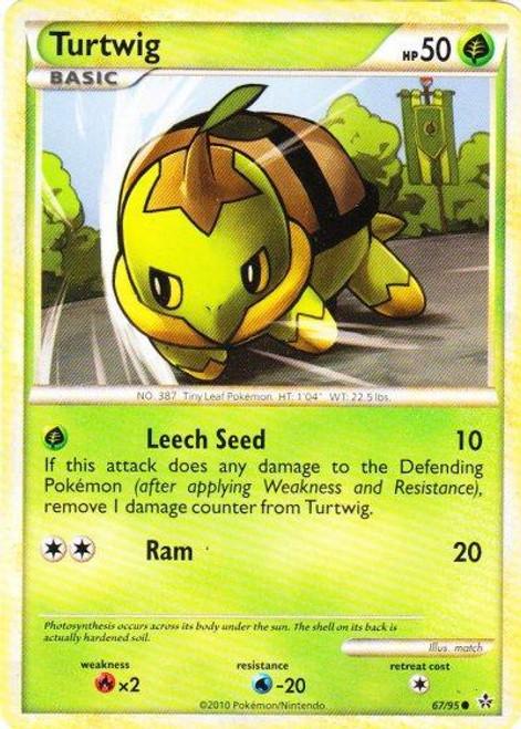 Pokemon HeartGold & Soulsilver Unleashed Common Turtwig #67