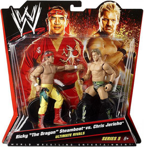 """WWE Wrestling Series 5 Ricky """"The Dragon"""" Steamboat vs. Chris Jericho Action Figure 2-Pack"""
