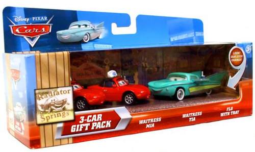 Disney Cars Multi-Packs Radiator Springs 3-Car Gift Pack Diecast Car Set [Flo's Cafe]