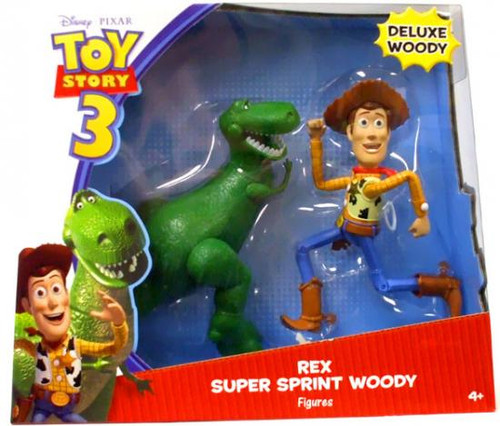 Toy Story 3 Deluxe Rex & Super Sprint Woody Action Figure 2-Pack
