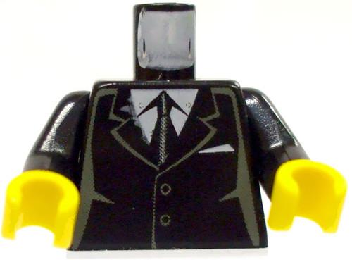 LEGO Castle Minifigure Parts Black Suit Jacket Loose Torso [Loose]