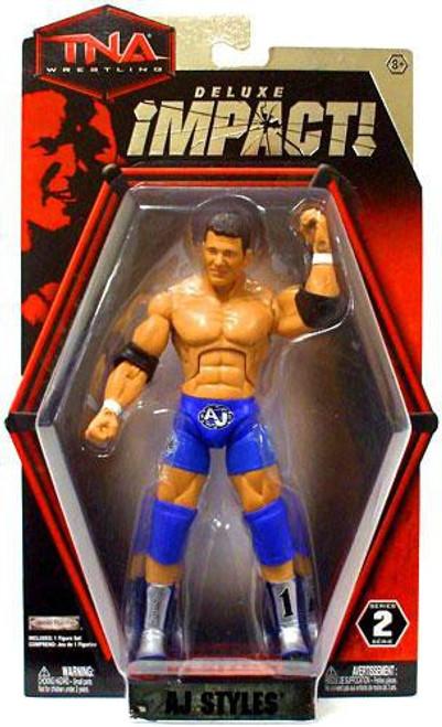 TNA Wrestling Deluxe Impact Series 2 AJ Styles Action Figure