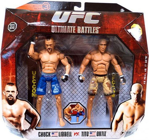 UFC Ultimate Battles Series 3 Tito Ortiz vs. Chuck Liddell Action Figure 2-Pack [UFC 66]