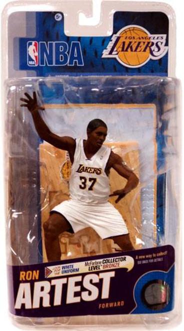 McFarlane Toys NBA Los Angeles Lakers Sports Picks Series 18 Ron Artest Action Figure [White Jersey]