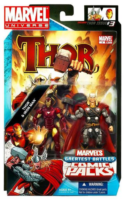 Marvel Universe Marvel's Greatest Battles Comic Packs Thor & Iron Man Action Figure 2-Pack