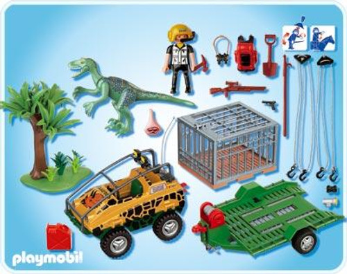 Playmobil Dinos Amphibian Vehicle with Deinonychus Set #4175