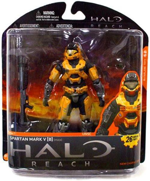 McFarlane Toys Halo Reach Series 1 Spartan Mark V [B] Exclusive Action Figure [Gold]