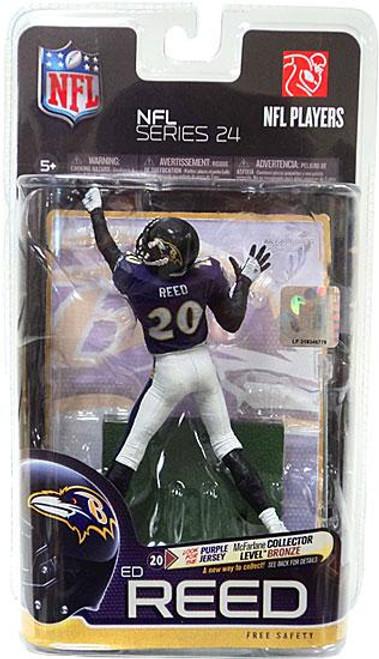 McFarlane Toys NFL Baltimore Ravens Sports Picks Series 24 Ed Reed Action Figure [Purple Jersey]