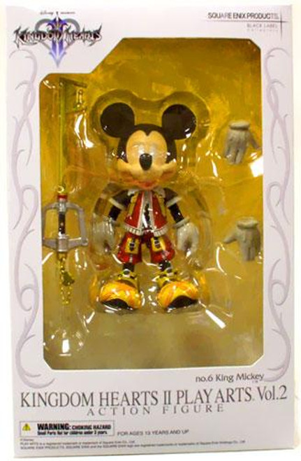 Disney Kingdom Hearts 2 Play Arts Kai Mickey Mouse Action Figure [King Mickey]