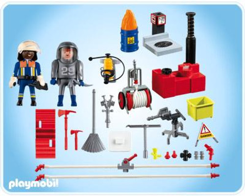 Playmobil Rescue Firefighter with Water Pump Set #4825