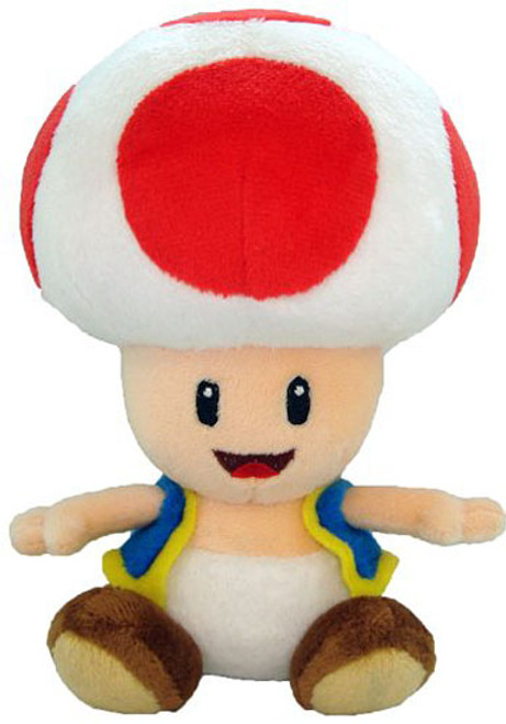 Super Mario Toad 7-Inch Plush [Open Mouth]