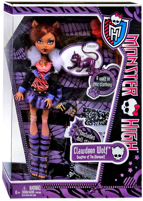 Monster High Clawdeen Wolf 10.5-Inch Doll [WIth Crescent]