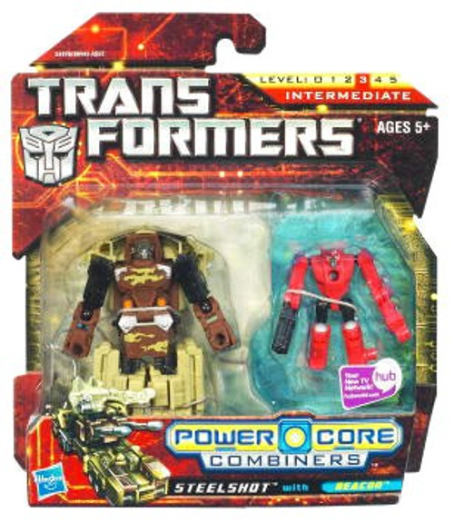 Transformers Power Core Combiners Steelshot with Beacon Action Figure 2-Pack