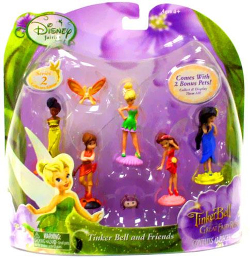 Disney Fairies Tinker Bell & The Great Fairy Rescue Series 2 Tinker Bell And Friends Mini Figure Set