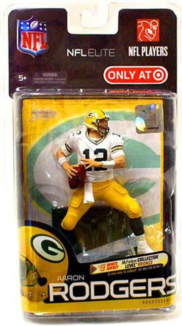 McFarlane Toys NFL Green Bay Packers Sports Picks Elite Series 1 Aaron Rodgers Exclusive Action Figure [White Jersey]