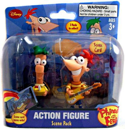 Disney Phineas and Ferb Scene Packs Phineas & Ferb Action Figure 2-Pack [Inside]