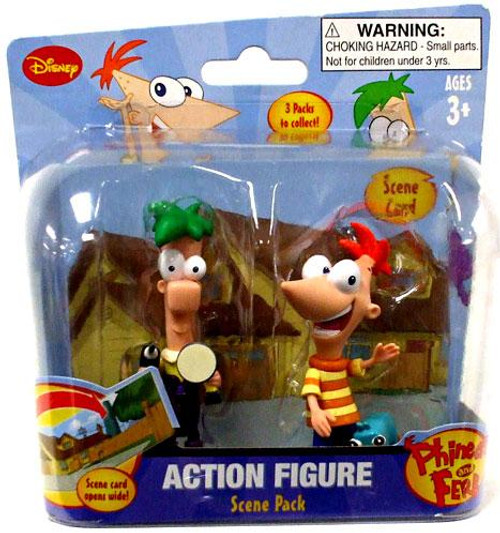 Disney Phineas and Ferb Scene Packs Phineas & Ferb Action Figure 2-Pack [Outside]
