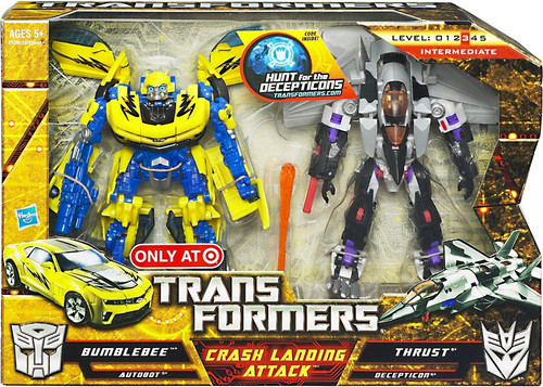 Transformers Hunt for the Decepticons Crash Landing Attack Exclusive Deluxe Action Figure Set