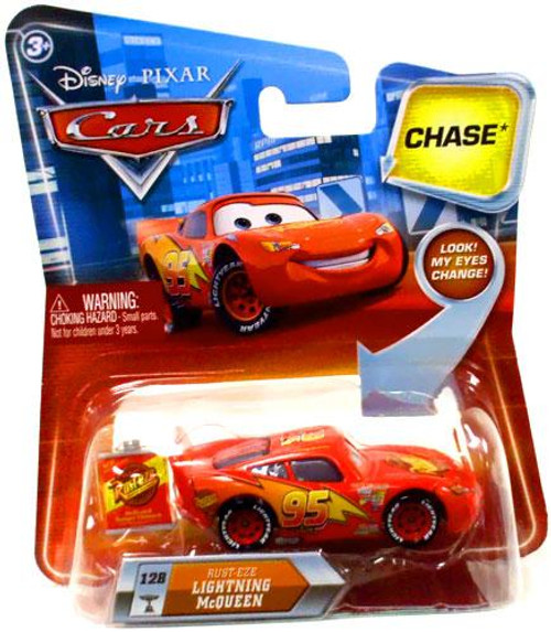 Disney Cars Lenticular Eyes Series 2 Rust-Eze Lightning McQueen Diecast Car