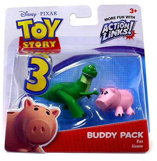 Toy Story 3 Action Links Buddy Pack Rex & Hamm Mini Figure 2-Pack