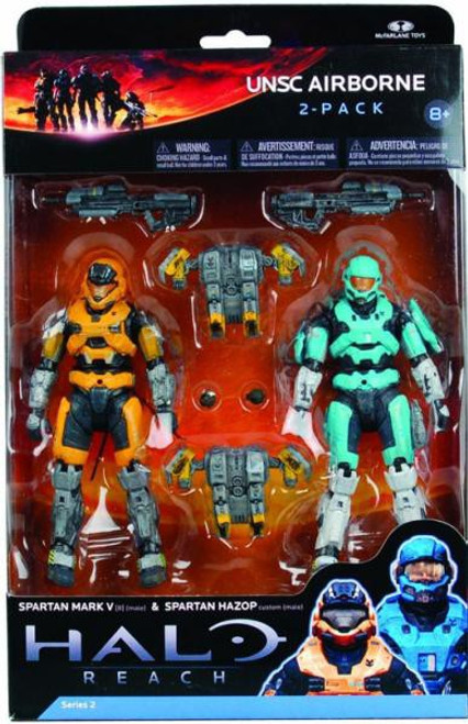 McFarlane Toys Halo Reach Series 2 UNSC Airborne Action Figure 2-Pack