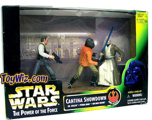 Star Wars A New Hope Power of the Force POTF2 Deluxe Cantina Showdown Action Figure Set