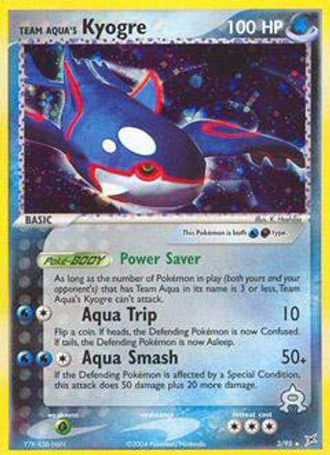 Pokemon EX Team Magma vs Team Aqua Rare Holo Team Aqua's Kyogre #3