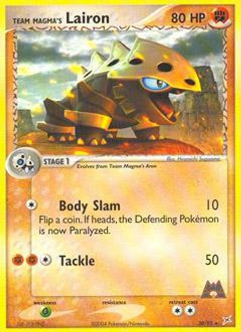 Pokemon EX Team Magma vs Team Aqua Rare Team Magma's Lairon #20
