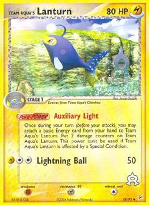 Pokemon EX Team Magma vs Team Aqua Uncommon Team Aqua's Lanturn #28