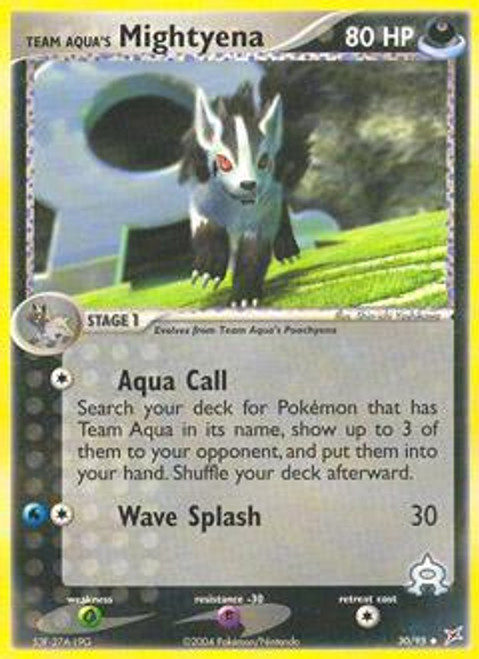 Pokemon EX Team Magma vs Team Aqua Uncommon Team Aqua's Mightyena #30