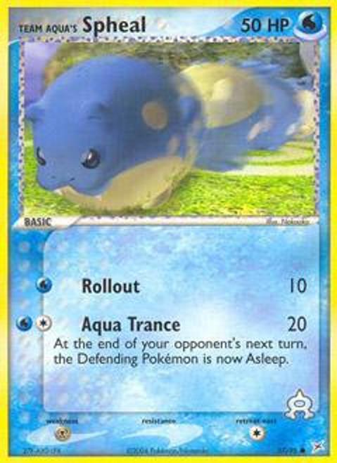 Pokemon EX Team Magma vs Team Aqua Common Team Aqua's Spheal #57