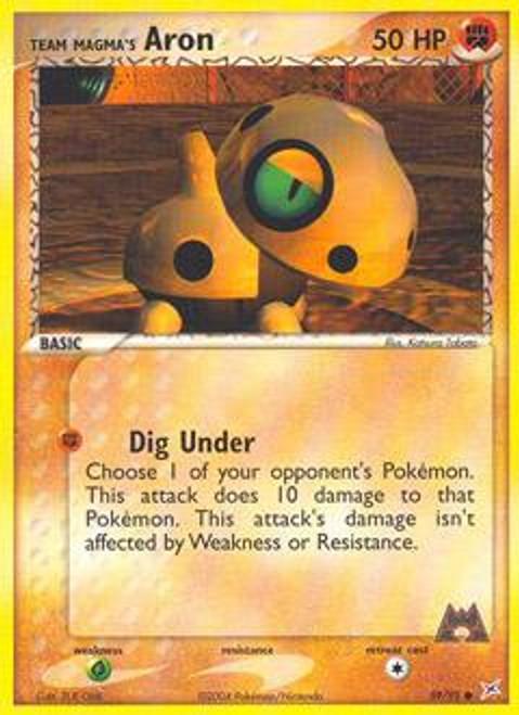 Pokemon EX Team Magma vs Team Aqua Common Team Magma's Aron #59