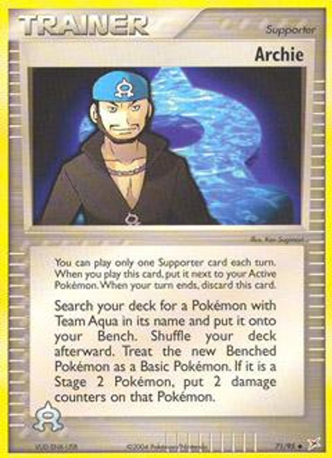 Pokemon EX Team Magma vs Team Aqua Uncommon Archie #71