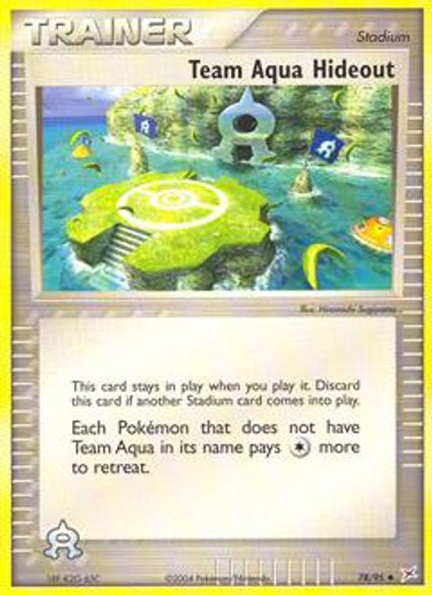 Pokemon EX Team Magma vs Team Aqua Uncommon Team Aqua Hideout #78