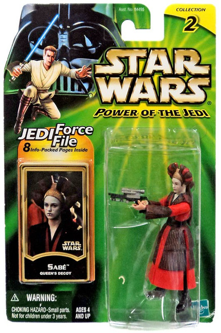Star Wars The Phantom Menace Power of the Jedi 2002 Collection 1 Sabe Action Figure [Queen Amidala Decoy, Loose]