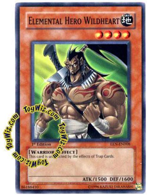 YuGiOh Elemental Energy Common Elemental Hero Wildheart EEN-EN008