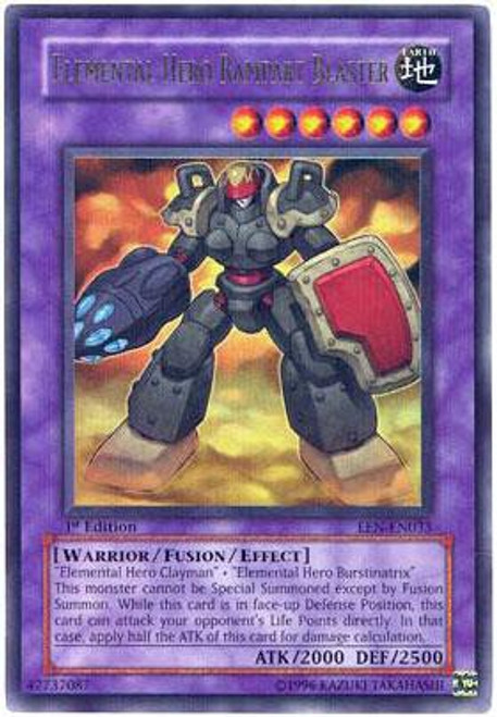 YuGiOh Elemental Energy Ultra Rare Elemental Hero Rampart Blaster EEN-EN033