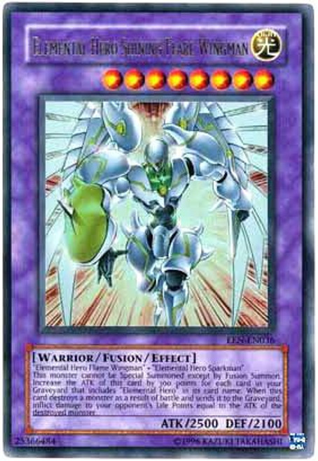 YuGiOh Elemental Energy Ultra Rare Elemental Hero Shining Flare Wingman EEN-EN036