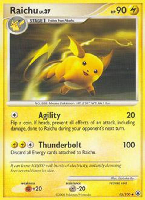 Pokemon Diamond & Pearl Majestic Dawn Uncommon Raichu #45