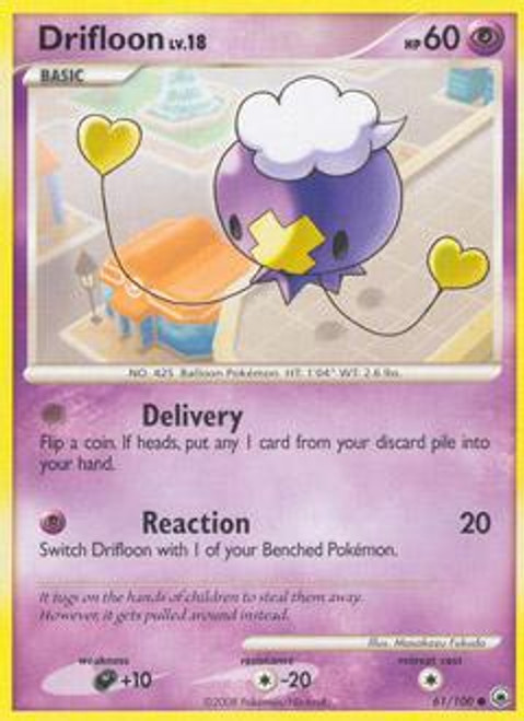 Pokemon Diamond & Pearl Majestic Dawn Common Drifloon #61