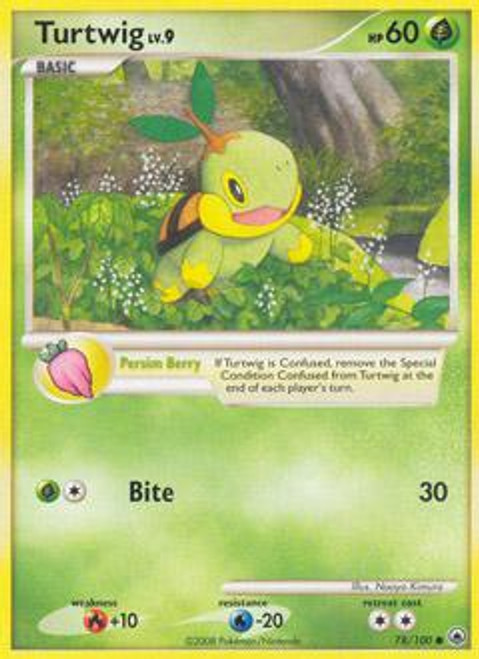 Pokemon Diamond & Pearl Majestic Dawn Uncommon Turtwig #78