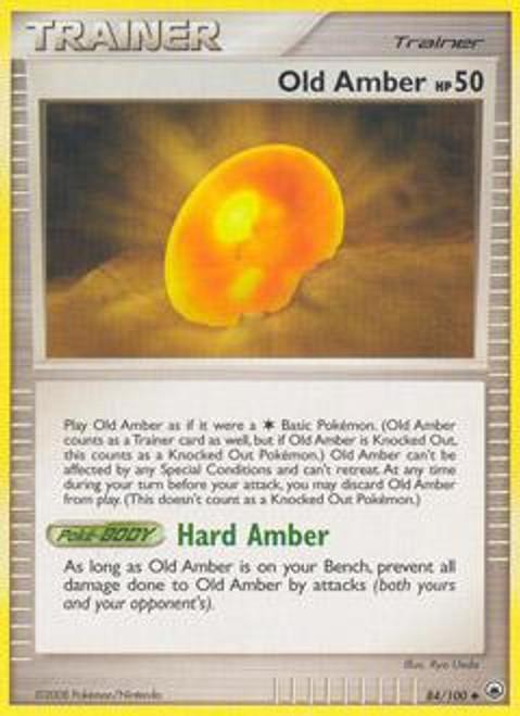 Pokemon Diamond & Pearl Majestic Dawn Uncommon Old Amber #84