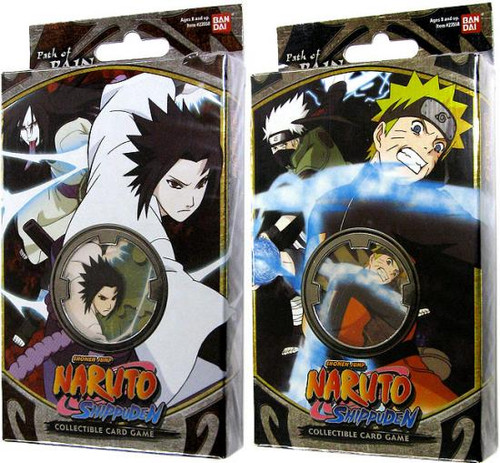 Naruto Shippuden Card Game Set of Both Path of Pain Theme Decks