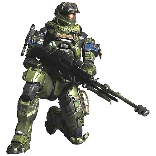 Halo Reach Play Arts Kai Series 1 Jun Action Figure [Warrant Officer]