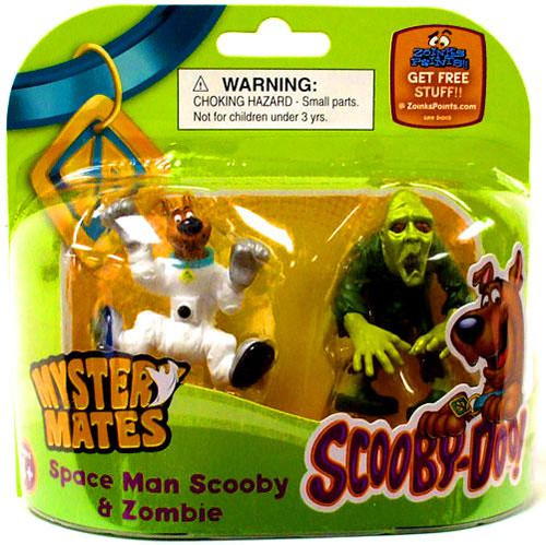 Scooby Doo Mystery Mates Space Man Scooby & Zombie Mini Figure 2-Pack