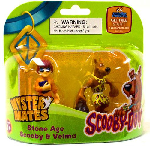 Scooby Doo Mystery Mates Stone Age Scooby & Velma Mini Figure 2-Pack