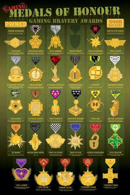 Pop Culture Medals of Honor Poster