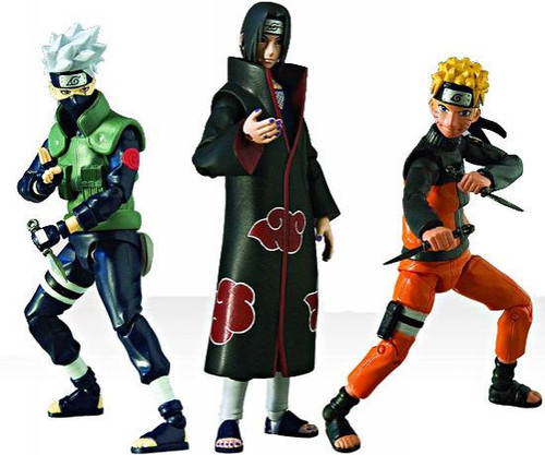 Naruto Shippuden 4-Inch Series 1 Set of 3 Series 1 Action Figures
